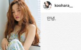"""Sốc: Nữ idol đình đám Goo Hara cố tự tử tại nhà riêng vào sáng nay, để lại lời nhắn """"Tạm biệt"""" fan trên Instagram"""