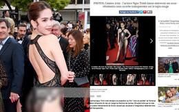 """Truyền thông và netizen nước ngoài phản ứng gay gắt về Ngọc Trinh tại Cannes: Báo Anh, Pháp còn không """"căng"""" bằng xứ Trung"""