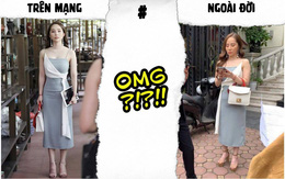 Bức ảnh Nhã trên phim so với ngoài đời: Cùng 1 con người, 1 chiếc váy mà khác nhau trời vực thế này?