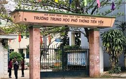 Gần 600 học sinh một trường THPT ở Quảng Ninh đồng loạt nghỉ học