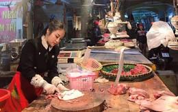 """Cô nàng Bắc Ninh bỗng dưng bị chỉ trích """"làm màu"""" vì trang điểm đậm, mặc váy xòe ngồi bán thịt, sự thật là..."""
