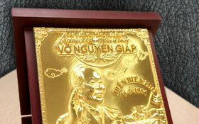 Biểu tượng Đại tướng Võ Nguyên Giáp đúc từ 103 chỉ vàng