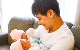 Lộ ảnh chính diện cặp song sinh đáng yêu nhà Lâm Chí Dĩnh