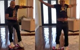 Mike Tyson ngã dập mông khi thử xe hoverboard