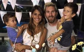 Gạt nỗi buồn thua trận, Messi tổ chức sinh nhật ấm cúng cho quý tử Mateo