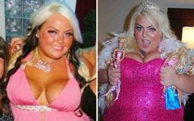 Búp bê Barbie 180kg dù mập nhưng vẫn tấp nập người theo