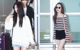Mỹ nhân thế hệ mới Tzuyu mặt loang lổ phấn, cùng TWICE đọ sắc với đàn chị Wonder Girls