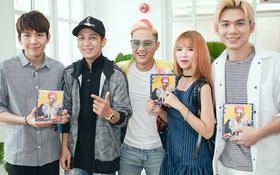 """Thanh Duy """"quậy"""" hết cỡ cùng Khởi My, Kelvin Khánh trong ngày ra mắt album mới"""