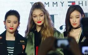 Lưu Diệc Phi, Nghê Ni bị chê kém sang khi đứng cạnh Gigi Hadid tại sự kiện