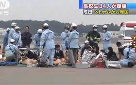 34 học sinh Nhật trên máy bay của Vietnam Airlines đã phải cấp cứu ngay sau khi hạ cánh tại sân bay Tokyo