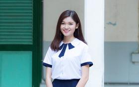 Không diện Áo dài, Á hậu Thùy Dung vẫn nổi bần bật với đồng phục nữ sinh cấp 3