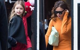 Đưa bé Harper xinh xắn đi xem phim, Victoria Beckham bị chê gầy và ăn mặc xấu