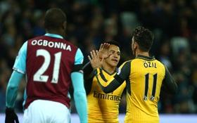 Arsenal đánh chiếm ngôi nhì bảng của Man City sau trận thắng hủy diệt West Ham