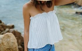 Tự làm áo không dây đi biển cực dễ chỉ với chun và vải