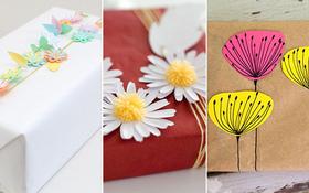 Gói quà 3 kiểu tặng bạn đầu năm chỉ với vài tờ giấy