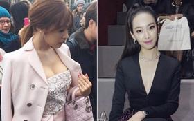 Tiffany - SNSD và Victoria - f(x) sang chảnh dự show Dior