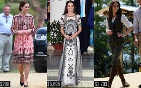 Công nương Kate chi hơn 1 tỉ VNĐ cho 17 bộ đồ trong tuần công du
