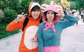 """Em gái Nichkhun (2PM) yêu """"ứ chịu được"""" bên """"hoàng tử khủng long"""""""