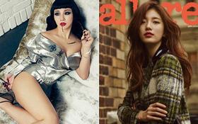 """CL """"bạo"""" và """"xõa"""" bao nhiêu thì Suzy kín bấy nhiêu trên tạp chí tháng 9"""