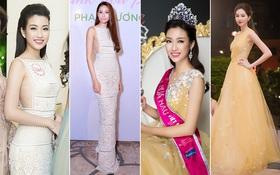 """""""Đụng độ"""" váy áo với Phạm Hương & Thu Thảo, Hoa hậu Mỹ Linh có giành được ưu thế?"""