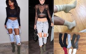 Thay vì bỏ 20 triệu mua boots Yeezy, các cô nàng thi nhau tự chế boots từ... tất đẹp chẳng kém