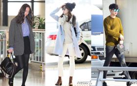 """Seohyun đối lập Krystal, cùng dàn mỹ nam mỹ nữ Hàn đọ dáng """"sang chảnh"""" ở sân bay"""
