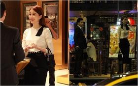 Hoa hậu Thu Thảo hạnh phúc đi ăn tối cùng bạn trai sau khi dự sự kiện
