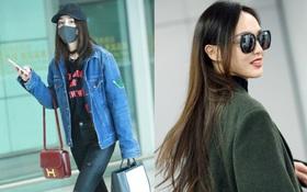 """Đọ sắc ở sân bay: Dương Mịch khoe chân dài dáng chuẩn, Đường Yên tỏa sáng với """"nụ cười khuynh thành"""""""
