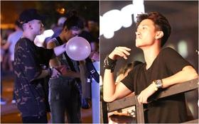 Hoàng Tôn vừa đi vừa hút bóng cười, Huỳnh Anh vô tư hút thuốc lá nơi công cộng