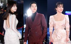 """Thảm đỏ KBS Drama Awards: Dàn sao """"Hậu duệ mặt trời"""" đổ bộ, Song - Song sáng nhất đêm nay"""