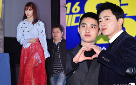 Park Shin Hye diện đồ khó hiểu lộ đùi to, D.O. và đàn anh tình cảm như ruột thịt