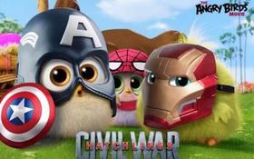 """Cười lăn cười bò xem """"Angry Birds"""" nhái """"Captain America: Civil War"""""""