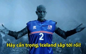 """Ảnh chế: Cả làng bóng đá khiếp vía trước """"dạ vương"""" Iceland"""