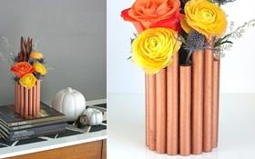 Lọ hoa ống đồng trông sang chảnh mà ai làm cũng được