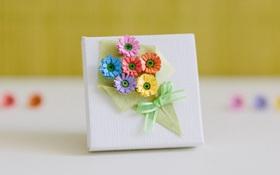 Nhặt nhạnh giấy màu làm bó hoa trang trí hộp quà siêu lãng mạn