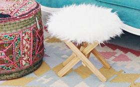 F5 ghế gỗ cũ thành đồ sang chảnh cho nàng điệu đà