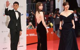 Isaac điển trai sải bước trên thảm đỏ liên hoan phim quốc tế Busan cùng dàn sao Hàn đình đám