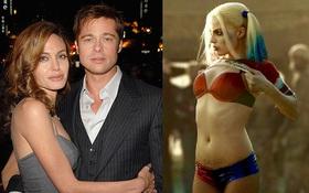 """Angelina Jolie ghen tuông ngăn Brad Pitt làm việc với người đẹp """"Harley Quinn""""?"""
