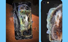 """Fan Samsung chắc chắn sẽ """"tím tái mặt mày"""" với chiếc ốp lưng iPhone này"""