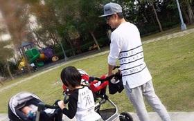 Bé Kimi nhà Lâm Chí Dĩnh lớn nhanh như thổi, hạnh phúc đưa 2 em song sinh đi dạo