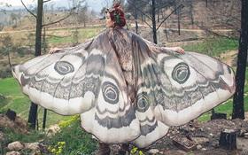 Hóa thân thành cánh bướm bay bổng cùng bộ khăn đẹp đến ma mị