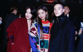 """Kelbin Lei lại """"im ỉm"""" qua Seoul dự show thời trang, sánh vai bên Luna (f(x))"""
