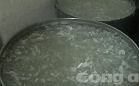 Tẩy trắng mứt bí đao bằng hóa chất độc hại