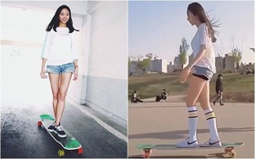 """""""Nữ thần trượt ván"""" xinh đẹp khuấy đảo mạng xã hội những ngày qua"""