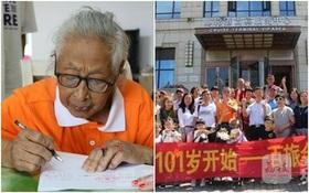 Cụ bà 101 tuổi được tập đoàn con cháu hơn 30 người hộ tống đi du lịch nước ngoài