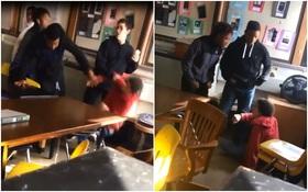 Video: Đấm vào mặt cô giáo, nam sinh bị bạn học cho ăn no đòn