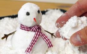 Cần gì đợi trời tuyết, bạn vẫn có thể làm người tuyết tại nhà với 2 nguyên liệu đơn giản