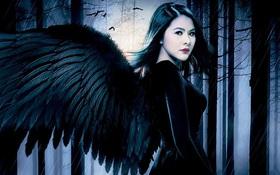 """Vân Trang ma mị, mọc đôi cánh đen trên poster phim kinh dị """"Oán"""""""