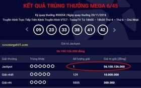 Vé trúng thưởng Jackpot hơn 56 tỷ đồng được phát hành tại Bà Rịa – Vũng Tàu