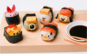 Có chỗ sushi hoạt hình siêu đáng yêu này, thách bé nào dám lười ăn nữa đấy?
